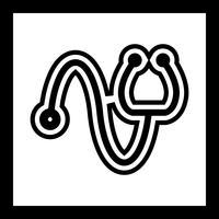 Estetoscópio ícone do design