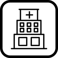 Ziekenhuis pictogram ontwerp