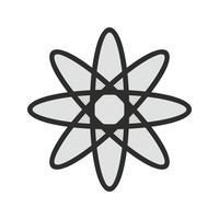 diseño del icono del átomo