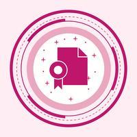 Diplôme Icône Design