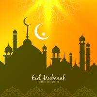 Abstract Eid Mubarak stylish greeting background