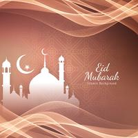 Abstract Eid Mubarak Islamic greeting background
