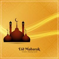 Abstract Eid Mubarak religious background illustration