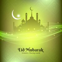 Design elegante astratto sfondo festival Eid Mubarak