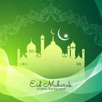 Abstracto religioso fondo islámico Eid Mubarak