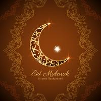Disegno astratto del fondo di Eid Mubarak