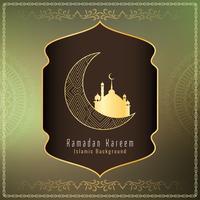 Resumen de fondo islámico saludo de Ramadan Kareem
