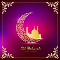 Abstract elegant Eid Mubarak religious background