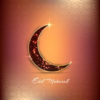 Abstract Eid Mubarak religious background with crescent moon