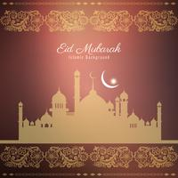 Diseño de fondo religioso abstracto Eid Mubarak