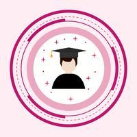 Design de ícone de estudante masculino