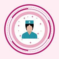 Verpleegkundige pictogram ontwerp