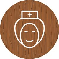 Enfermeira, ícone, desenho