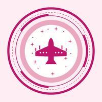 Diseño de icono de avión de combate