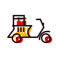 Delivery Motorbike Icon Design