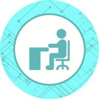 Seduto su Desk Icon Design