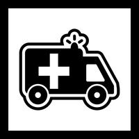 Ambulance pictogram ontwerp