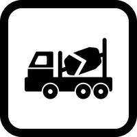 Concrete Mixer Icon Design