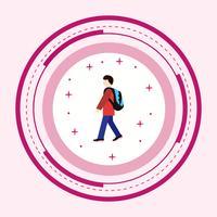 Walking to School Icon Design