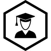 Diseño de icono de estudiante masculino