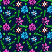 blomma sömlöst mönster, blommönster