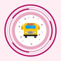Skolbuss Icon Design