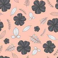 flower seamless pattern, floral pattern vector