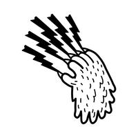 Grizzly bear claw vector illustration