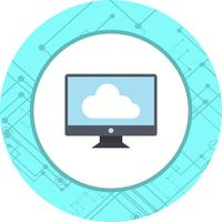 Collegato a Cloud Icon Design
