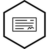 Cheque Icon Design