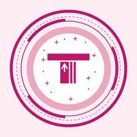 Diseño de icono de cajero