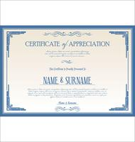 Certificado vetor