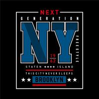 Brooklyn typography design tee for t shirt graphics