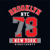 Grafica t-shirt tipografia College Brooklyn