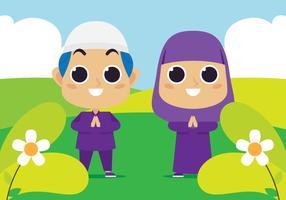 moslimkinderen in het park