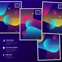 Modern Abstract Poster Set Templates