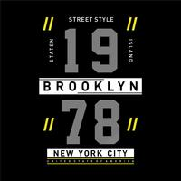 estilo de rua new york city camiseta design tipografia gráfica