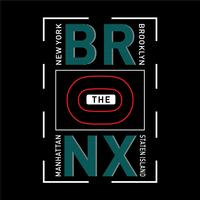the bronx typography design t shirt