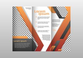 Orange Brochure Template Vector