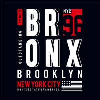 the bronx nyc typography tee design for t shirt