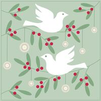 doves and ornaments vector graphic