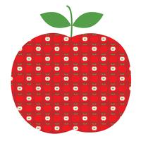 apple graphic with apple pattern