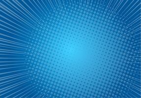 Fondo de arte pop azul, línea de velocidad retro cómic rayos ilustración - Vector