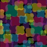 abstraktes überlappendes Formenmuster auf schwarzem Hintergrund