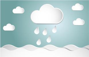 Vädersymbol. Trendigt platt ikon designelement. pappersskuren stil