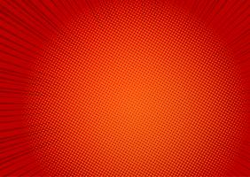 Pop art red background, Speed line retro comic rays illustration - Vector