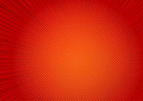 Fondo de arte pop rojo, línea de velocidad retro cómic rayos ilustración - Vector
