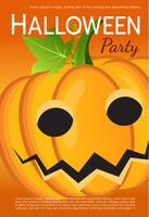 Vector Halloween Party Poster. Pumpkin