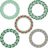 Christmas wreath frames
