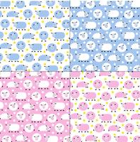 cute sleepy sheep patterns